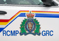 Rcmp logo the as seen on the side of a police car Stock Photo