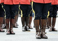 RCMP Parade scene Royalty Free Stock Photo