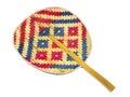 R?cznie robiony weave kolorowy tajlandzki fan Obrazy Stock