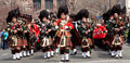 Rd battalion the royal canadian regiment pipes and drums of march onto parade square at queen's park in toronto on Royalty Free Stock Photos