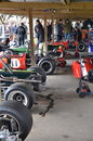 Rd grrc members meeting march classic f race cars thrills crowds at the at goodwood in west sussex Stock Image