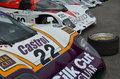 Rd grrc members meeting march classic lemans race cars thrills crowds at the at goodwood in west sussex Royalty Free Stock Image