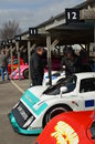 Rd grrc members meeting march classic race cars thrills crowds at the at goodwood in west sussex Royalty Free Stock Photo
