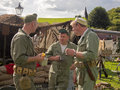 Re enactment weekend embsay yorkshire uk at bolton abbey th september Royalty Free Stock Photography
