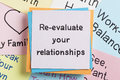 Re-evaluate your relationships Royalty Free Stock Photo