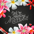 We re getting married vector eps illustration Royalty Free Stock Images