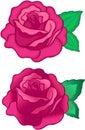 Róże ilustracyjne wektorowe Zdjęcia Stock
