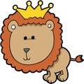 Re Lion Vector Fotografie Stock Libere da Diritti