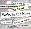 Byly v rozpáraný roztrhané noviny aktuality pozor