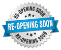 Re-opening soon round isolated badge