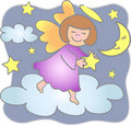 Reach for Stars Angel/eps Stock Photography