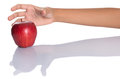 Reaching For Red Apple III Royalty Free Stock Photo