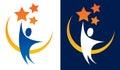 Reaching for Stars Logo Royalty Free Stock Photo