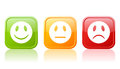 Reaction buttons Stock Images