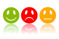 Reaction smileys vector clip art Stock Image
