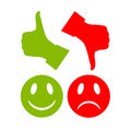 Reaction vector symbols good or bad Royalty Free Stock Images
