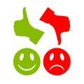 Reaction vector symbols Royalty Free Stock Photo