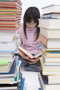 Read books Stock Photo