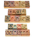 Read books bookworm Stock Photography