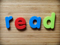Read concept in toy letters Stock Photos