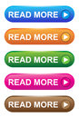 Read more buttons of five colors Stock Photo