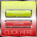 Read more and click here buttons on a color reflective surface