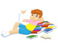 Reading boy Royalty Free Stock Photography