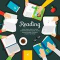Reading Club Vector Illustration