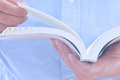 Reading image of a book Royalty Free Stock Image