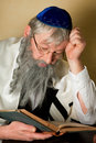 Reading a jewish book Royalty Free Stock Photos