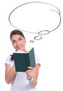 Reading makes you think Royalty Free Stock Photo