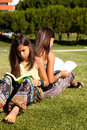 Reading at the park Royalty Free Stock Photo