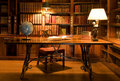 Reading room in old library. Royalty Free Stock Photo