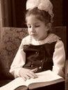 Reading schoolgirl Stock Photography