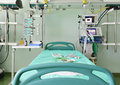 Ready to accept the patient's bed in icu Royalty Free Stock Images