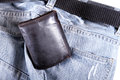 Ready to go jeans and a wallet Royalty Free Stock Images