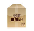 Ready to move box illustration design over a white background Stock Image