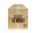Ready to move box illustration design