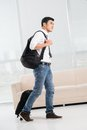 Ready to travel full length image of a going man Royalty Free Stock Images