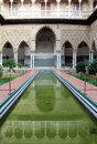 Real Alcazar Moorish Palace in Seville Stock Images