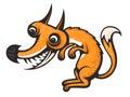 Real crazy fox. Cartoon Vector Image