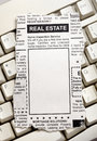 Real estate ad fake classified newspaper concept Stock Photos