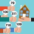 Real Estate Auction Conceptual Vector