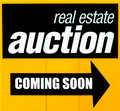 Real estate auction sign Royalty Free Stock Photo