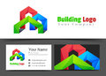 Real Estate Building Corporate Logo and Business Card Sign Royalty Free Stock Photo