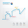 Real estate business diagram line style template for infographi infographics Royalty Free Stock Photography