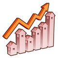Real estate chart Stock Image