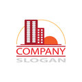 Real estate company logo vector for your Stock Photo