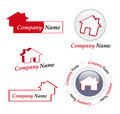 Real estate company logos Royalty Free Stock Images