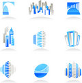 Real estate and construction icons / logos Royalty Free Stock Photo